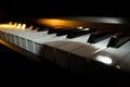 Piano keyboard digital closeup view Royalty Free Stock Images