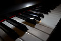 Piano keyboard digital closeup view Stock Photo