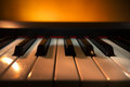 Piano keyboard digital closeup view Royalty Free Stock Photo