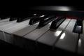 Piano keyboard digital closeup view Stock Photography