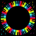 Piano Keyboard Frame Royalty Free Stock Photo