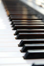 Piano keyboard with selective sharpness Stock Photo