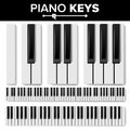 Piano Keyboard Vector. Realistic Isolated Illustration. Musical Piano Key Top View. Keyboard Pad Royalty Free Stock Photo