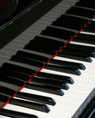 Piano keyboard - vertical Royalty Free Stock Photos