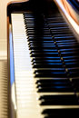 Piano keyboard. Vertical closeup composition