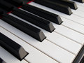 Piano keys close up of close frontal view Stock Image