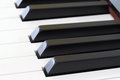 Piano keys close up of close frontal view Royalty Free Stock Images