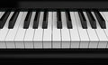 Piano keys closeup on white background d render Stock Photos