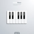 Piano keys d vector illlustraion elegant design concept of musical template with keyboard Stock Images