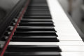 Piano keys perspective close up of classical Stock Photo