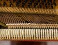 Piano mechanism an old closeup Royalty Free Stock Image