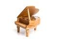 piano music box  on white Royalty Free Stock Photo