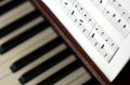 Piano music notes Royalty Free Stock Photo
