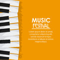 Piano music sound media festival icon. Vector graphic Royalty Free Stock Photo