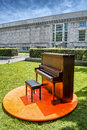 Piano in a park Royalty Free Stock Photo