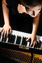 Piano player pianist playing Royalty Free Stock Images