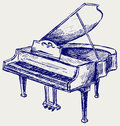 Piano sketch Royalty Free Stock Photos
