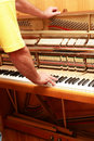Piano tuner Royalty Free Stock Photo