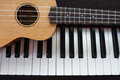 Piano and Ukulele Royalty Free Stock Photo
