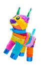 Piñata donkey mexican party traditional crafted toy very popular in posadas and parties white isolated Royalty Free Stock Photography