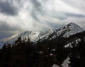 Piatra Craiului ridge in winter Royalty Free Stock Photo