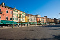 Piazza bra near the opera di verona often shortened to is largest in italy Stock Photography
