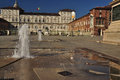 Piazza castello and royal palace torino italy italian square in the city of turin piemonte castle grounds Stock Images