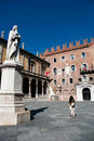 Piazza Dante In Verona Stock Photography