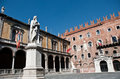 Piazza Dante In Verona Royalty Free Stock Photo