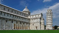 Piazza dei miracoli italy view on in pisa Royalty Free Stock Photos