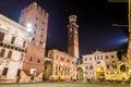 Piazza dei signori piazza dante in verona italy Stock Photography