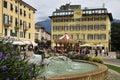 Piazza del brolio the square in riva garda italy Stock Photos