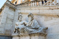 Piazza del campidoglio designed by michelangelo mainly include the city of rome emperor equestrian statue and wisdom of god the Stock Image