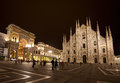 Piazza del Duomo at night Royalty Free Stock Image