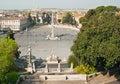 Piazza del Popolo Fotografía de archivo libre de regalías