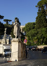Piazza del popolo climb up the hill from Royalty Free Stock Photo