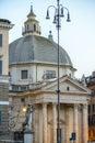 Piazza del popolo famous square in rome italy Stock Image