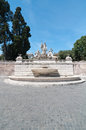 Piazza del popolo fountain of neptune on the in rome italy Stock Images