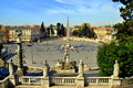 Piazza del popolo picture of during a nice sunny day in rome Royalty Free Stock Photo
