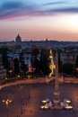 Piazza del Popolo Roma Royalty Free Stock Photo