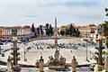 Piazza del Popolo in Rome Stock Photography