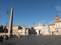 Piazza del Popolo in Rome Stock Images