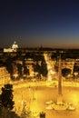 Piazza del popolo in rome italy Stock Image