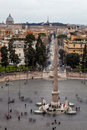 Piazza del Popolo, Rome. Italy Aerial view Royalty Free Stock Photo