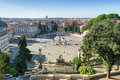 Piazza del popolo in rome italy view on Royalty Free Stock Photo