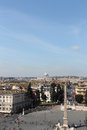 Piazza del popolo in rome from the pincio view of Royalty Free Stock Photos