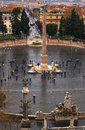 Piazza del popolo rome view of in Stock Photography