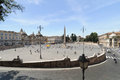 Piazza del popolo summer day on the in rome italy Stock Images