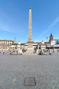 Piazza del popolo summer day on the in rome italy Royalty Free Stock Photo