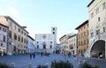 Piazza del Popolo in Todi, Umbria, Italy Royalty Free Stock Photo